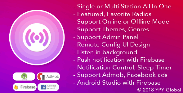 XRadio v3.4 – Best Radio Template For Android PHP Script