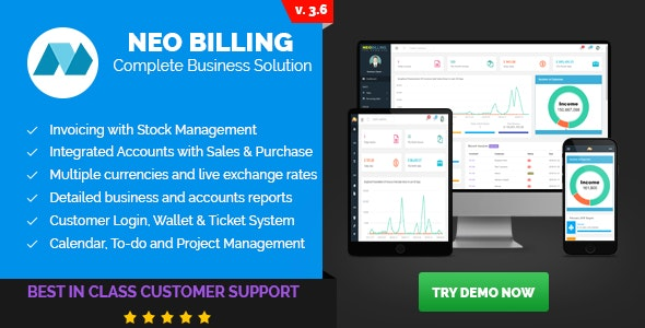 Neo Billing v3.6 – Accounting, Invoicing And CRM Software PHP Script