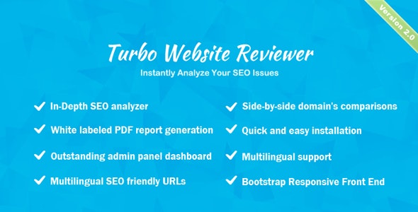 Turbo Website Reviewer v2.0 – In-depth SEO Analysis Tool PHP Script