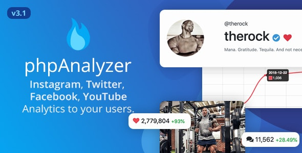 phpAnalyzer v3.1.2 – Social Media Analytics Statistics Tool ( Instagram, Twitter, YouTube, Facebook ) – nulled PHP Script