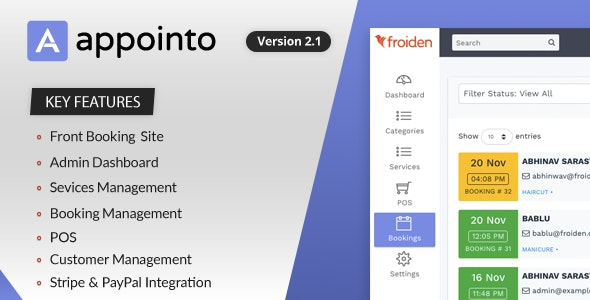 Appointo v2.1.3 – Booking Management System – nulled PHP Script