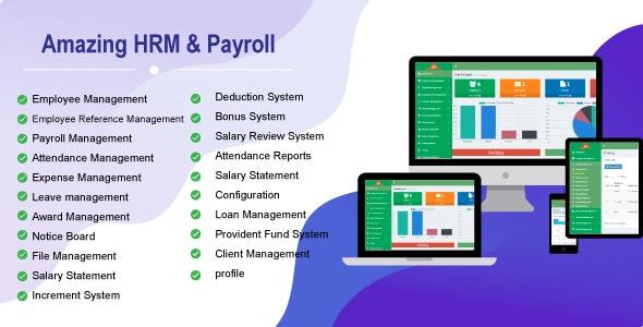 Amazing HRM & Payroll v1.0 PHP Script