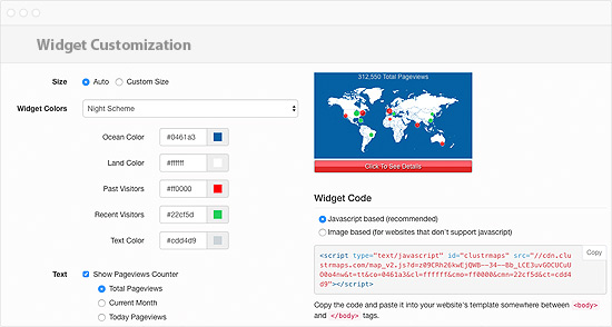 Worldmap of your visitors Web Traffic Analysis PHP Script