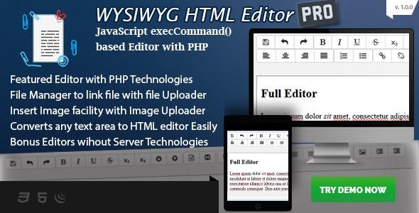 PHPDevel Wysiwyg HTML Editor PHP Script