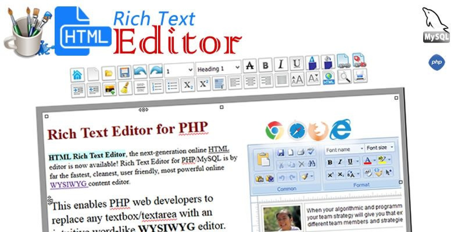Rich Text Editor for PHP New PHP Script