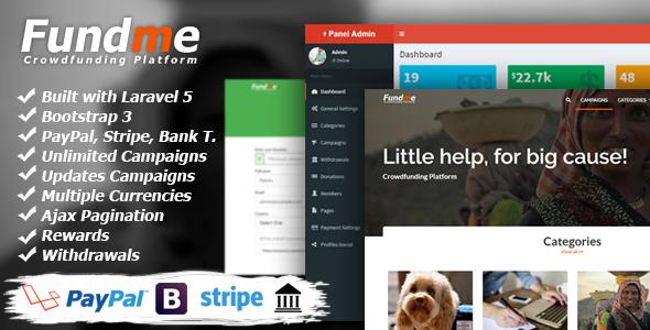 Fundme v3.2 – Crowdfunding Platform PHP Script