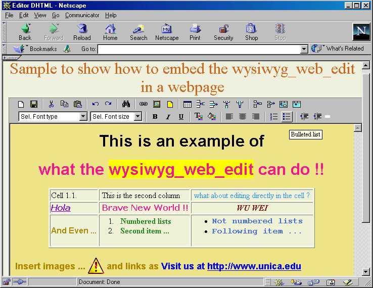 Wysiwyg Web Edit PHP Script
